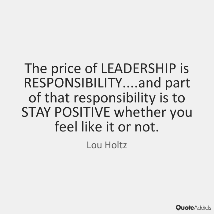The Price of Leadership-By Edward Maroncha